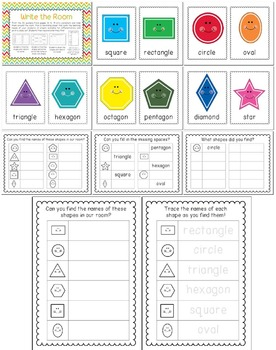 Let's Learn about 2D Shapes - {Posters, Write the Room + fun printables!}