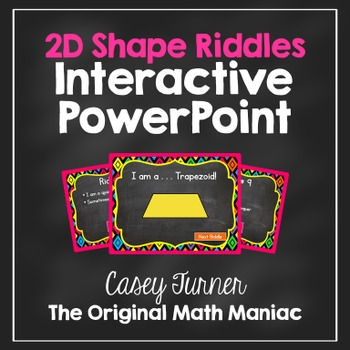 2D Shape Riddles Interactive PowerPoint