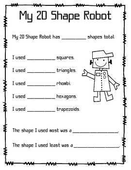 Shape Robot Worksheets & Teaching Resources | Teachers Pay