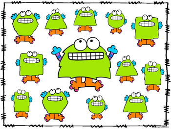 2D Shape Roll And Cover Monsters