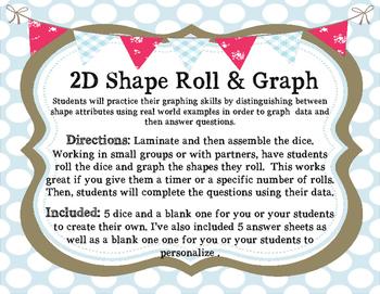 2D Shape  Roll & Graph