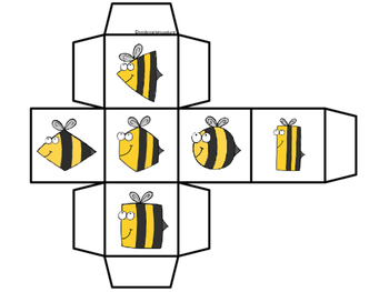 2D Shape Roll and Cover -Bees