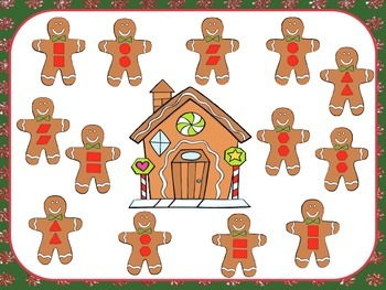 2D Shape Roll and Cover or Bump (Gingerbread Men)