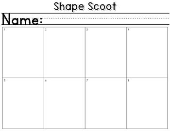2D Shape Scoot