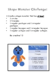 2D Shape- Shape Monster Creation Challenge
