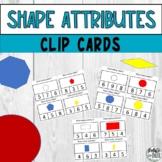 2D Shapes Attributes Side & Corner Count Printable Clip Cards
