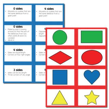 "2D Shape ""Slap-It!"" Card Game Math Center"