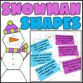 2D Shape Snowman Center Activity