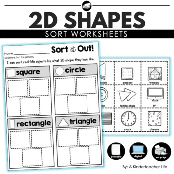 2D Shapes Sort