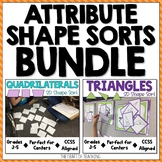 2D Geometry Sort Bundle: Quadrilaterals and Triangles