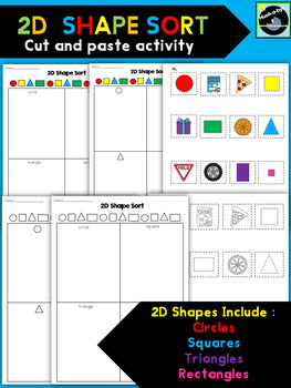 2D Shape Sort Cut And Paste