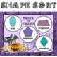 2D Shape Sort Math Center - (Shake and Spill Trick-or-Treat)
