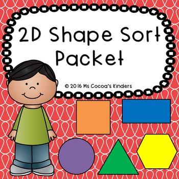 2D Shape Sort Packet