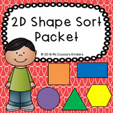 2D Shape Sort Packet
