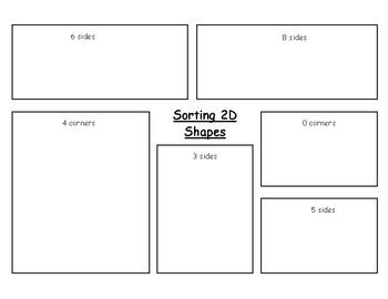 2D Shape Sort Placemat