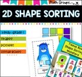 2D Shape Sort- Tissue box monsters. #tptfireworks