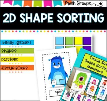 2D Shape Sort- Tissue box monsters