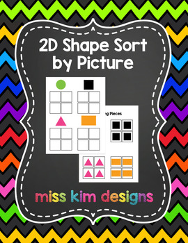 2D Shape Sort by Picture File Folder Game for Early Childh