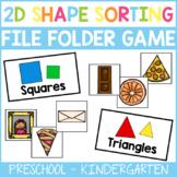 2D Shape Sorting File Folder Game