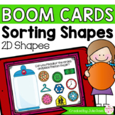 2D Shape Sorting Math Centers | Digital Game Boom Cards Distance Learning