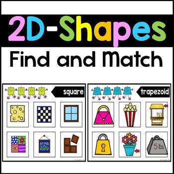 2D Shape Sorting Mats - 2D Shape Matching Activities