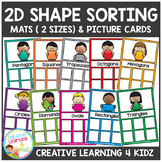 2D Shape Sorting Mats & Shape Cards
