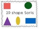 2D Shape Sorts