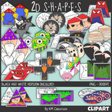 2D Shape Superhero & Creature ClipArt