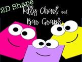 2D Shape Tally Chart & Bar Graph