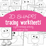 2D Shape Tracing Pages