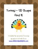 2D Shape - Turkey Find It (Write the Room)