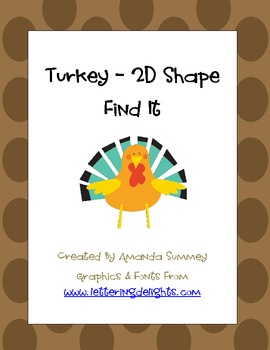 2D Shape - Turkey Find It (Write the Room)