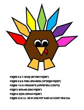 2D Shape Turkeys