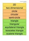 2D Shape Vocabulary Cards