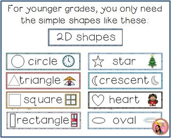 2D Shape Word Wall