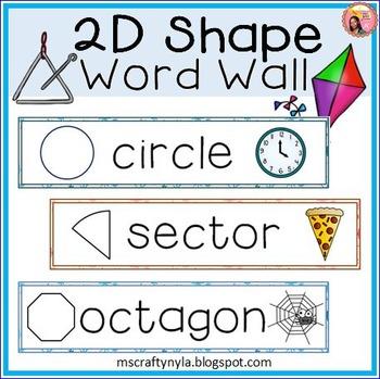 2D Shape Word Wall