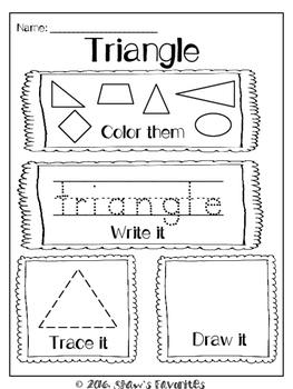 2D Shape Worksheets {24 pages}