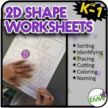 2D Shape Worksheets Tracing Sheets and Mini Shape Book