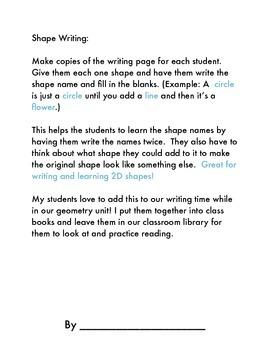 2D Shape Writing!