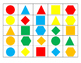 2D Shape and Color Bingo Game (3-Tiers for Differentiated
