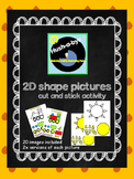 2D Shape pictures cut and stick
