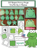 2D Shaped Funny Frogs Craftivity & Games
