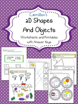 2D Shapes Worksheets with Answer Keys