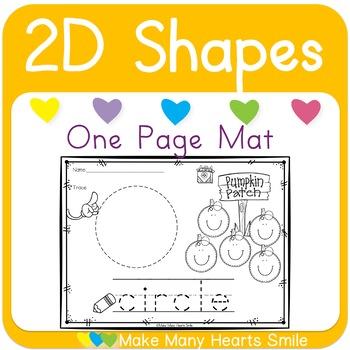 2D Shapes Pumpkins One Page Mats