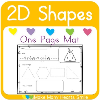 2D Shapes Write Trace and Draw