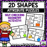 2D Shapes:  Shape Attribute Puzzles