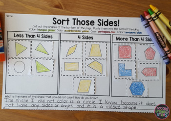 2D Shapes & Attributes (Hands-on Math Centers)