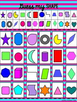 2D Shapes {2D Shape Posters & 5 Math Centers}