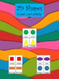 2D Shapes- 3 part card activity