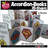 (12) 2D-Shapes Accordion Books